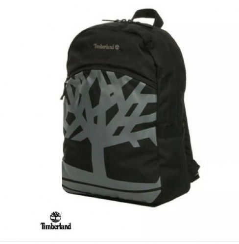 Timberland Black Backpack Travel Casual Daypack School Rucksack Bag New 23 L